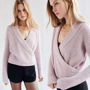 Urban Outfitters Pink Shawl Collar Sweater L